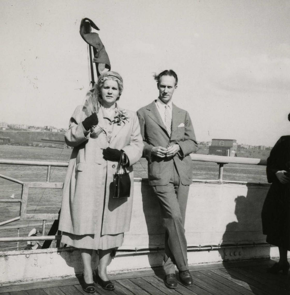 Henry and Carolyn Booth aboard the Ile de France