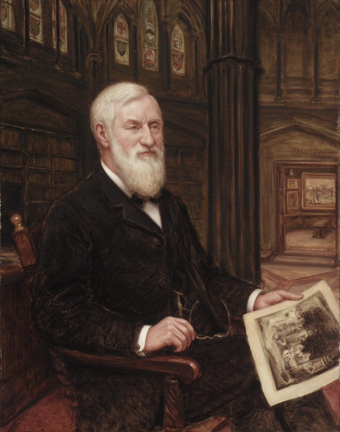 Robert J. Wickenden, James Edmund Scripps, 1907, oil on canvas (58 x 36 inches). Detroit Institute of Arts, Gift of the Estate of James E. Scripps, 07.2. Photography Courtesy The Detroit Institute of Arts.