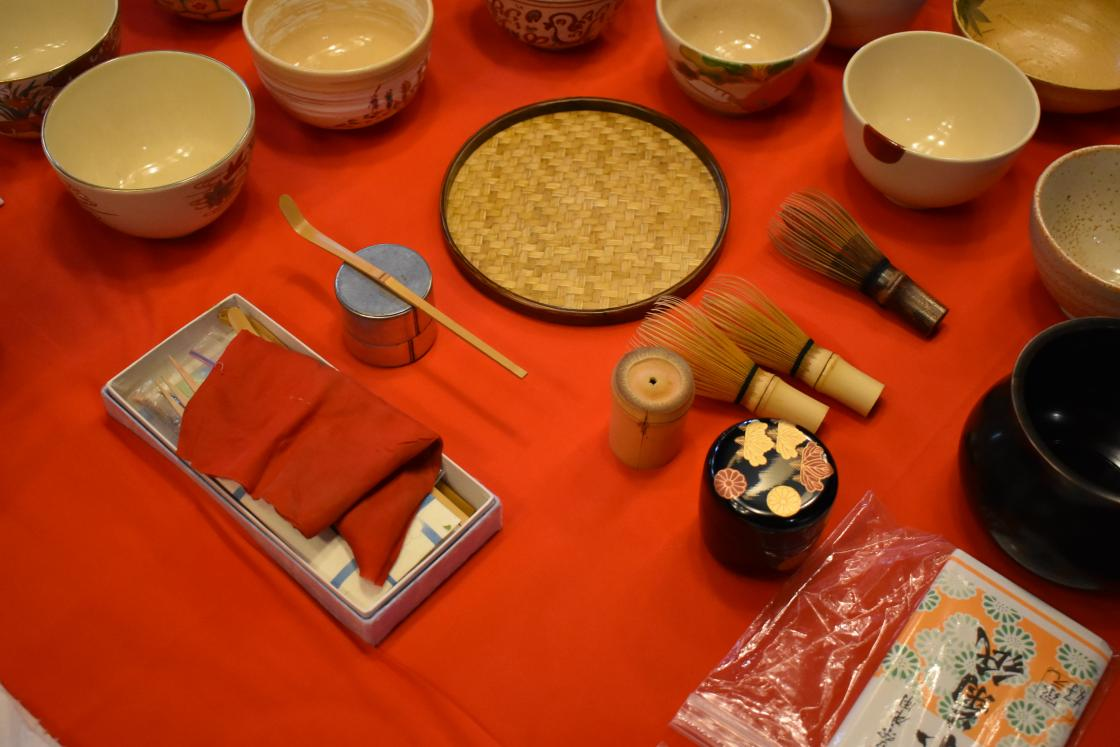 Traditional Japanese tea ceremony in Frank Lloyd Wright Smith House
