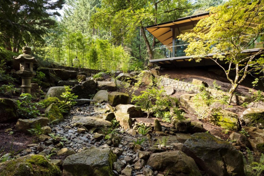 Photograph of Cultural Village Creek, Portland Japanese Garden.
