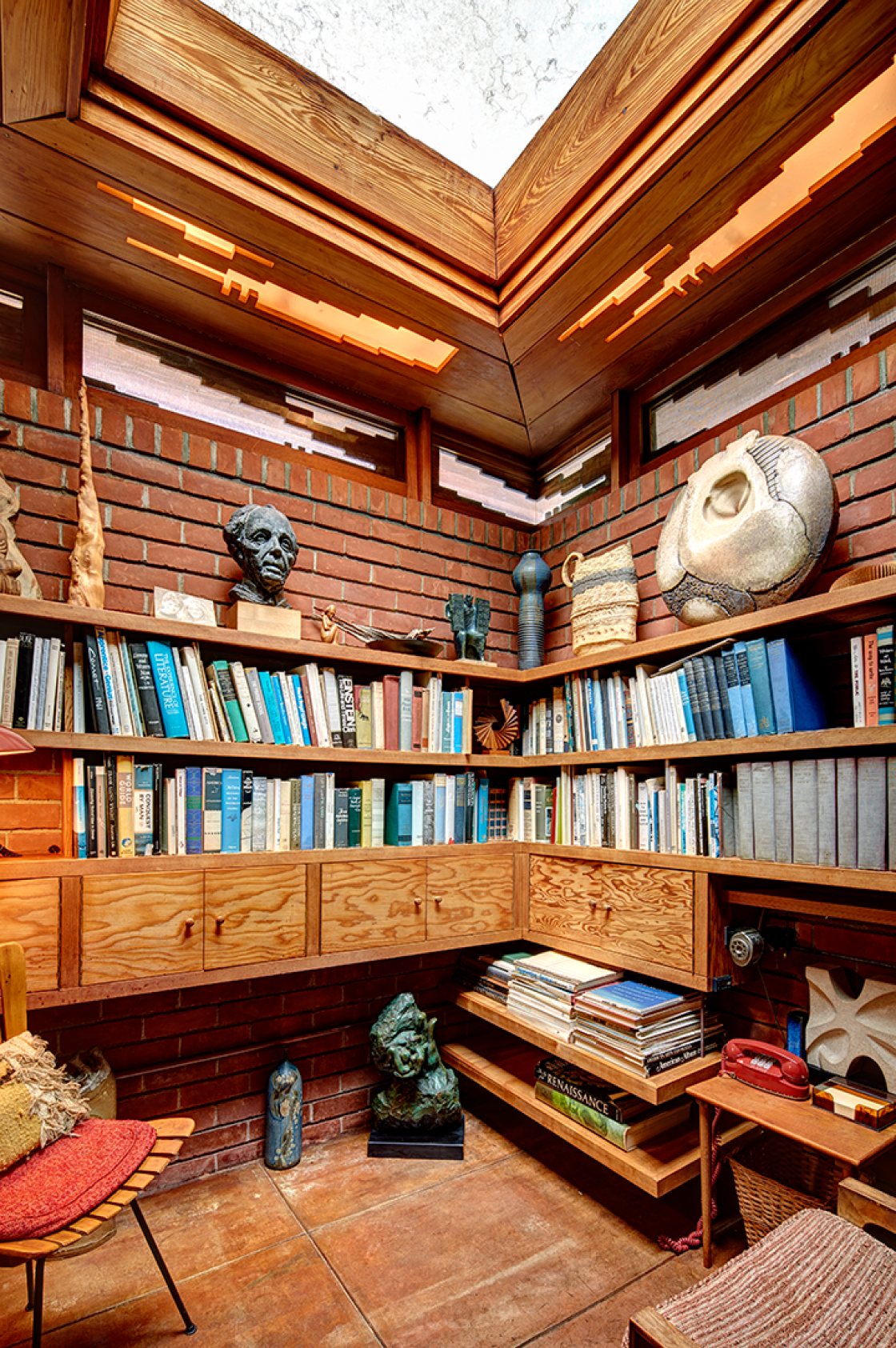 Frank Lloyd Wright Smith House library photograph by James Haefner