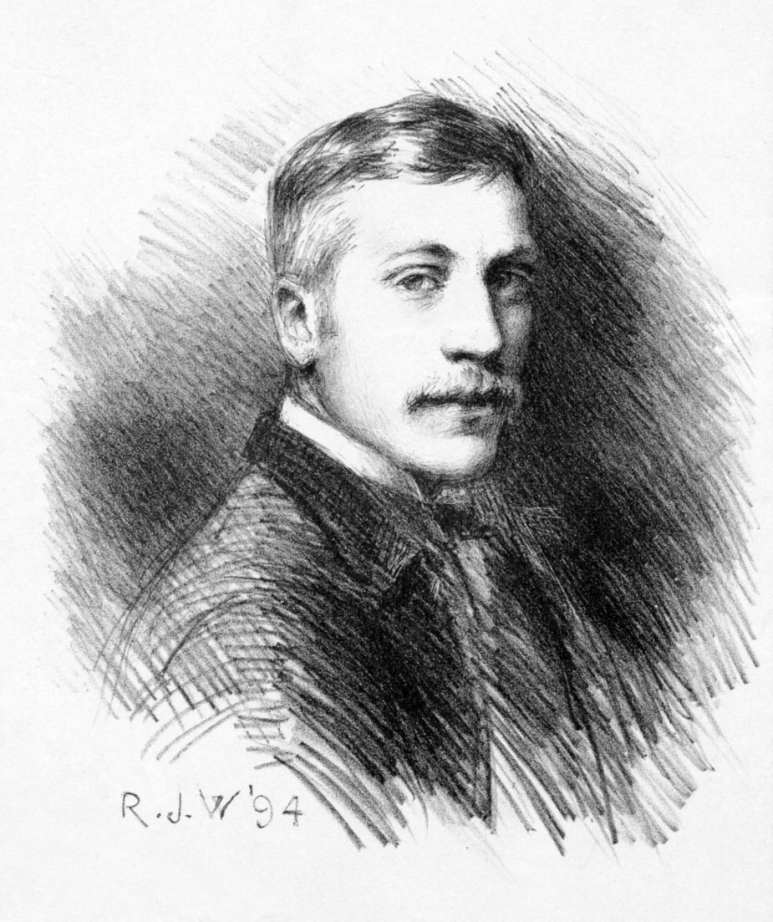 Robert J. Wickenden, Self Portrait, 1894, lithograph (18 x 16 cm). Private Collection, Montréal, Canada. Photography Courtesy Ken Watson.
