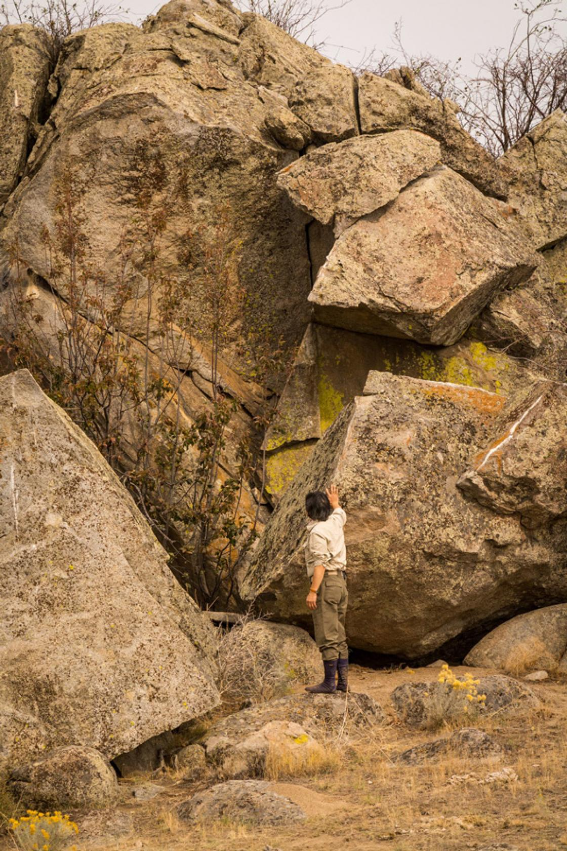 Photograph of Sadafumi Uchiyama Rock Hunting.