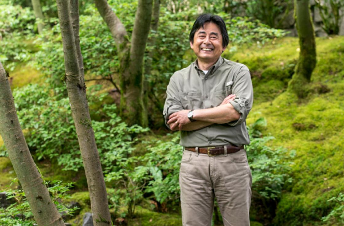 Photograph of Sadafumi Uchiyama in the Portland Japanese Garden